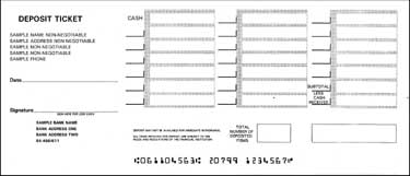 photo about Printable Deposit Slips known as Deposit Slip data web page - Usefulness Laser Merchandise