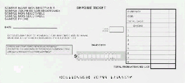 Pre Printed Deposit Slips Order Form